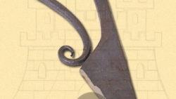 Cuchillo medieval forjado mano 250x141 - Cuchillo medieval forjado mano