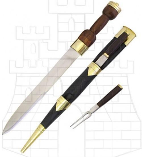 Dirk Escoces con tenedor y cuchillo - Daga y Puñal escoceses Dirk