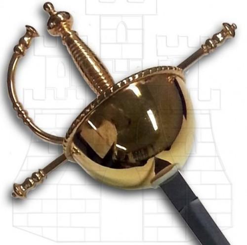 Espada Cazoleta Española - Espadas rapieras o roperas de taza y de lazo