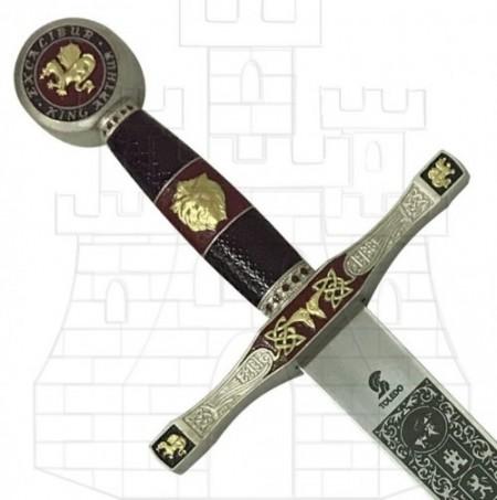 Espada Excalibur Latonada 450x453 custom - Espadas y Sables con acabados latonados