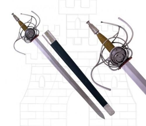 Espada Rapiera alemana del siglo XVII - Espadas rapieras o roperas de taza y de lazo