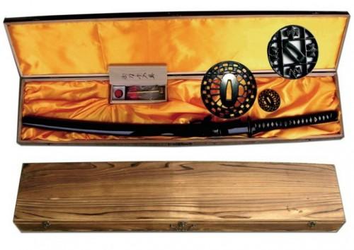 Katana acero carbono estuche tsuba kit limpieza - Limpieza de las espadas, sables y katanas