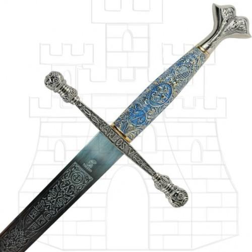 Espada Carlos V con puño cincelado - Espadas con puño cincelado