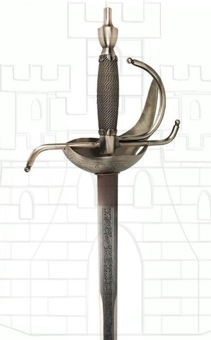 Espada Rey Carlos III rústica - Espadas con acabado rústico