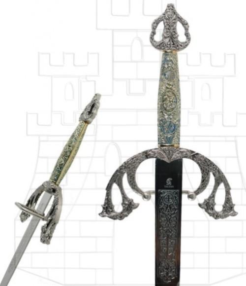 Espada Tizona Cid con puño cincelado - Espada Tizona Cid con puño cincelado