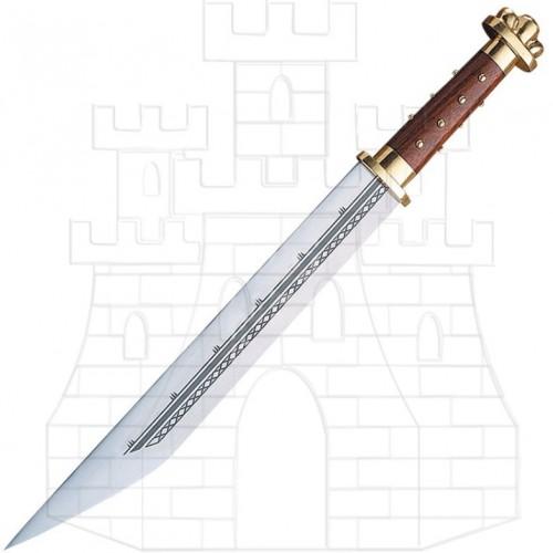 Espada sajona con vaina S.VIII  - Espada Sajona siglo VIII