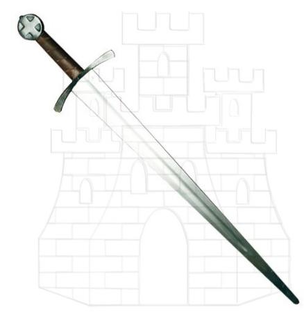 Espada templaria hoja ancha una mano - Espadas medievales una mano
