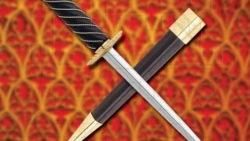 Daga Rondel Auray con vaina 250x141 - Espada Bastarda funcional con vaina