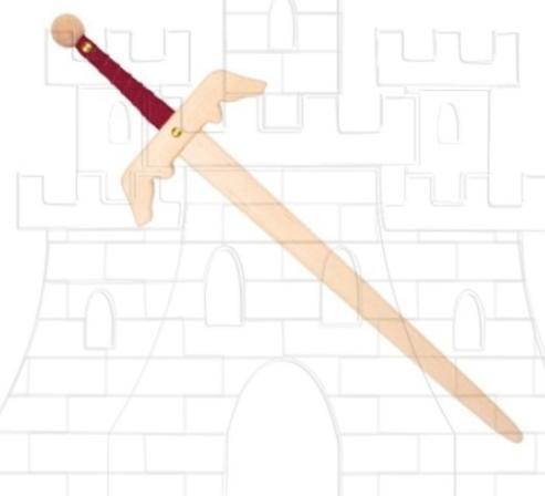 Espada Friedrich para niños - Espadas de madera y latex para niños
