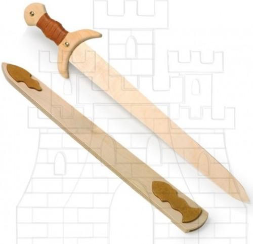 Espada vikinga para niños - Espadas de madera y latex para niños