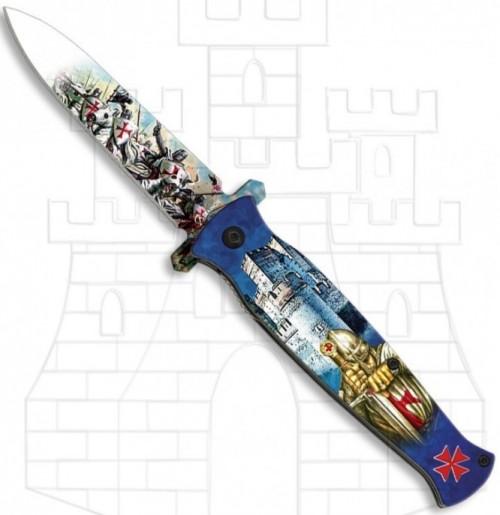 Navaja Caballeros Templarios asistida - Navajas Caballeros Templarios