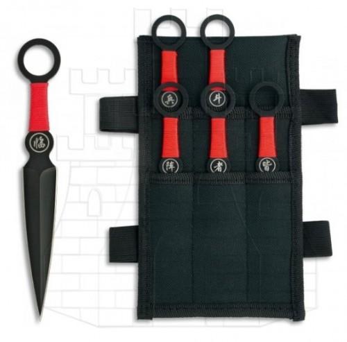 Set 6 cuchillos lanzadores ninja - Cuchillos históricos y de época