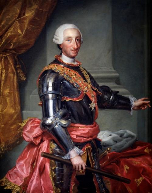 CARLOS III REY DE ESPAÑA - Espada Carlos III Dorada con grabados