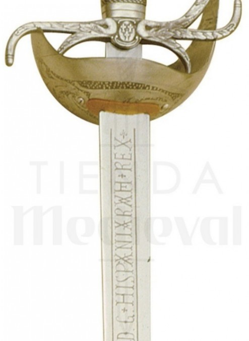 Espada Carlos III Dorada 522x675 - Espada Carlos III Dorada