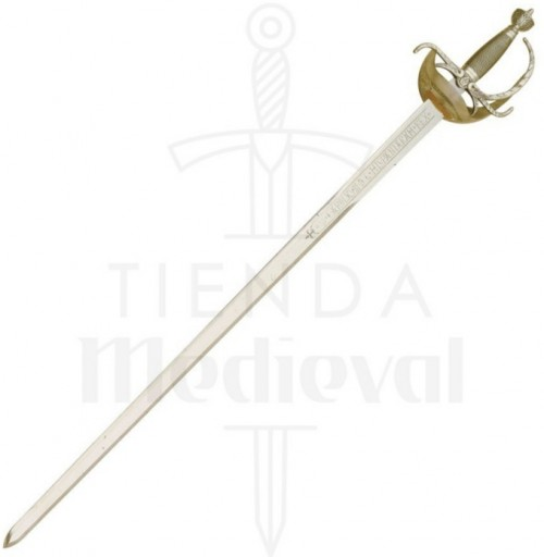 Espada Carlos III Dorada con grabados - Espada Carlos III Dorada con grabados