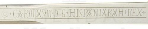 Espada Carlos III Dorada con hoja grabada - Espada Carlos III Dorada con grabados