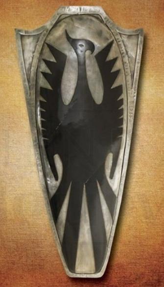 Escudo de la Muerte de Frank Frazetta - Espada, hacha, escudo y casco de la Muerte de Frank Frazetta