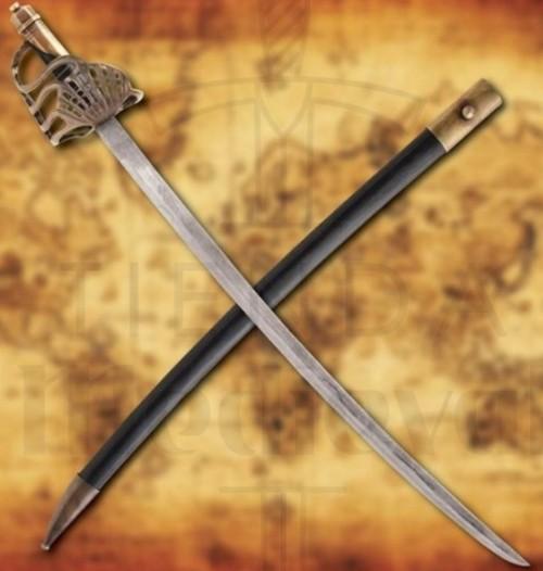 Espada Alfanje Pirata con vaina - Espada Alfanje Pirata con vaina