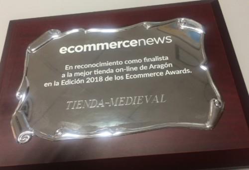 PREMIO TIENDA MEDIEVAL AÑO 2018 - Tienda-Medieval segundo puesto on-line en Aragón
