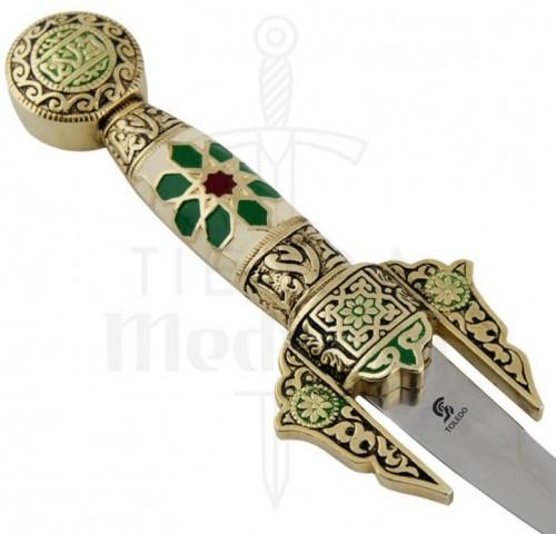Daga arabe curva decorada - Daga Árabe curva decorada