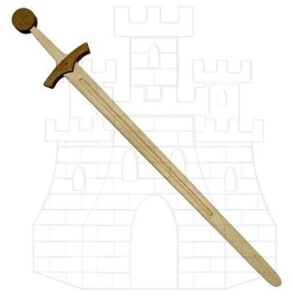 Espada medieval madera 1 mano prácticas - Espadas de madera para prácticas