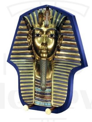 Soporte espada Cabeza Faraón Tutankamón - Espada y Daga Egipcia de Tutankamón