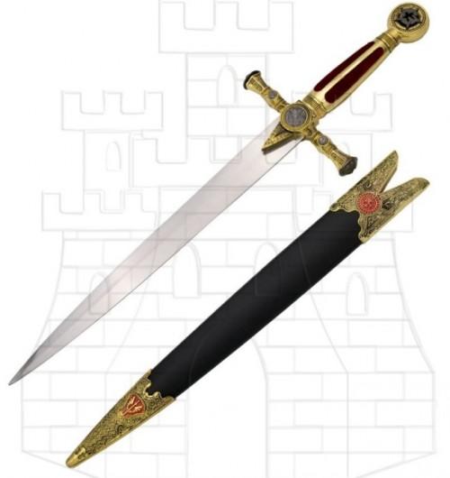 Daga Masónica con vaina 1 - Espadas y dagas con puño de terciopelo