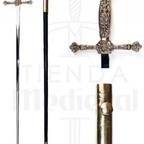 Espadín ceremonial con vaina 477x478 - Cimitarra Turca con vaina