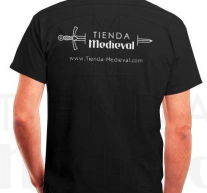 Camiseta Negra Tienda Medieval - La mejor Tienda Medieval Online de Europa