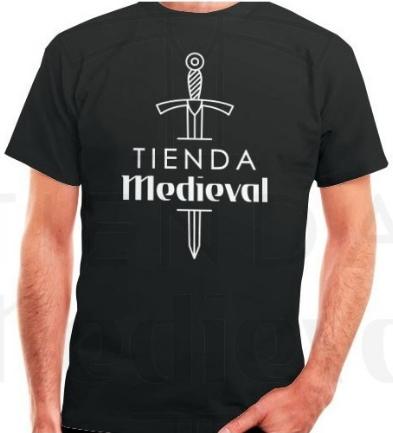 Camiseta Negra de Tienda Medieval 1 - La mejor Tienda Medieval Online de Europa