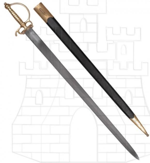 Espada Europea corta siglo XVIII 694x675 - Espada Europea corta, siglo XVIII