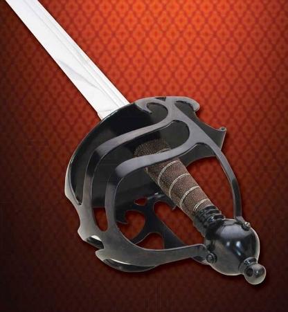 Espada inglesa funcional media cesta - Espada inglesa media cesta funcional