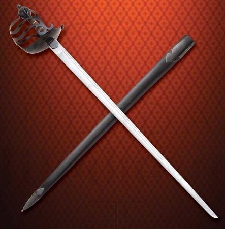 Espada media cesta inglesa funcional - Espada inglesa media cesta funcional