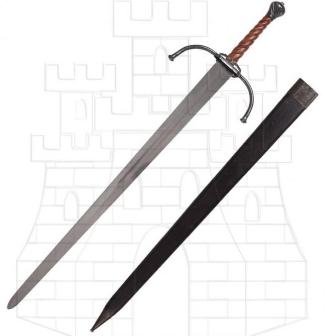 Espada medieval larga o bastarda para prácticas 746x675 - Espada medieval larga o bastarda para prácticas