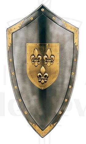 Escudo Con Flor De Lys En El Centro - Espada medieval Flor de Lys Francia Siglo XIV