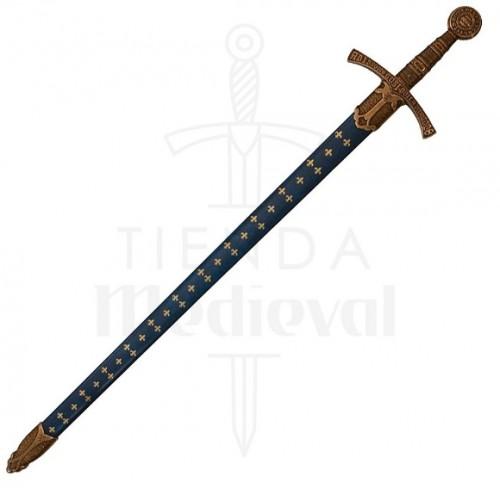 Espada Medieval Flor De Lys Francia S. XIV - Espada medieval Flor de Lys Francia Siglo XIV