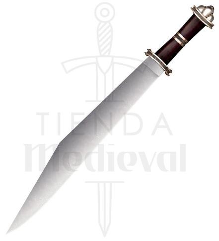 Espada Larga Sax Germánica Acero Damasco - Espadas Funcionales Cold Steel
