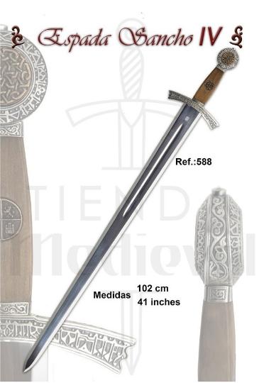 Espada Sancho IV Castilla - Espada Sancho IV De Castilla Siglo XIII