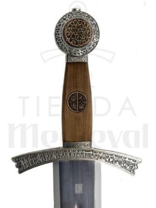 ESPADA SANCHO IV CASTILLA EMPUNADURA - Espada Sancho IV de Castilla del siglo XIII