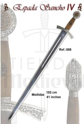 ESPADA SANCHO IV DE CASTILLA - Espada Sancho IV de Castilla del siglo XIII
