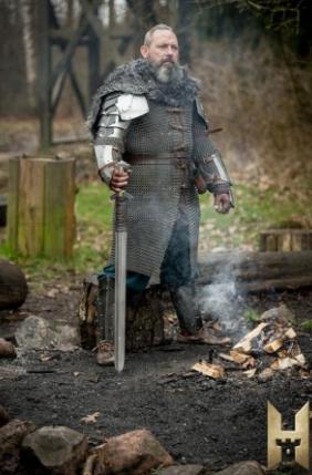 Espada Vikinga Dreki Serie Stronghold Color Metal - Espadas Serie Stronghold para Larp