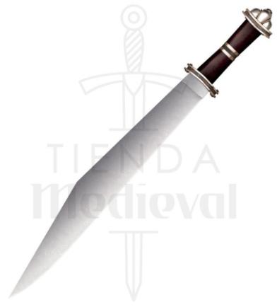 Espada Larga Sax Germanica Acero Damasco - Espada Larga Sax Germánica en Acero Damasco
