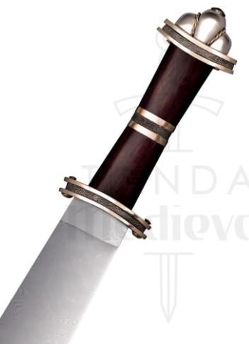 Espada Larga Sax Germanica Acero de Damasco - Espada Larga Sax Germánica en Acero Damasco